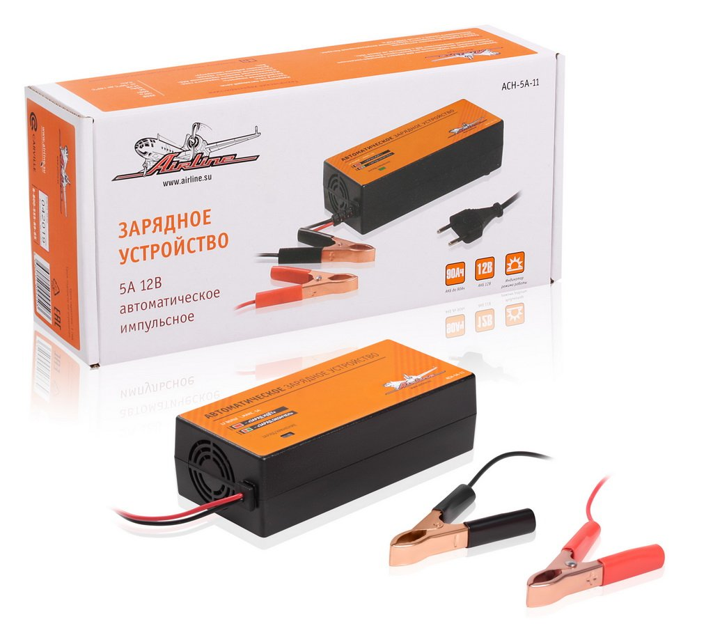Зарядное устройство 5А 12В. автоматическое. импульсное (диодный)