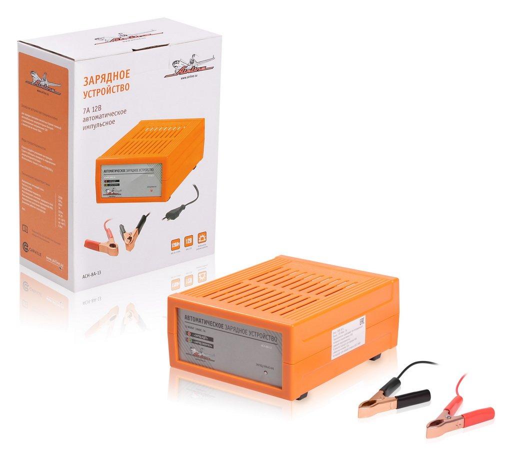 Зарядное устройство 7А 12В. автоматическое. импульсное (диодный индикатор)