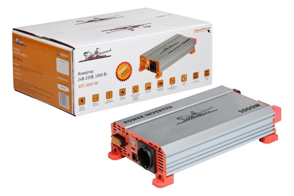 Инвертор 24В-220В. 1000 Вт (API-1000-06)