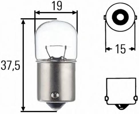 Лампа накаливания 12V 10W R10W BA15s Iveco. MB. MAN.Scania. DAF