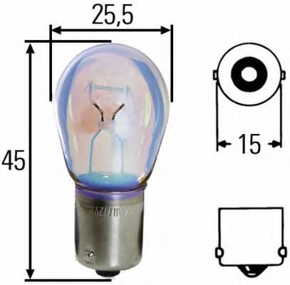 Лампа накаливания 12V 21W P21W BA15s DAF.Iveco.MB