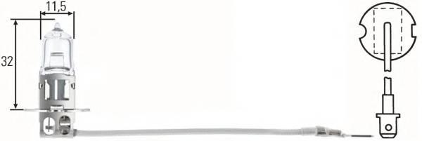 Лампочка H3 (с проводком)12V 55W