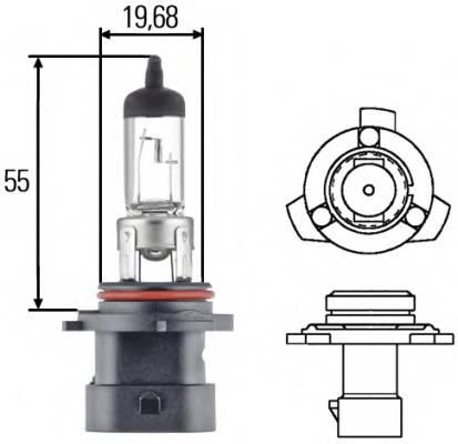 Лампа (HB4A) 12V 51W P22D ближнего света галогенная