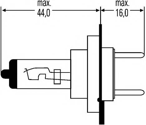 Лампа (H7) 55W 12V PX26D галогенная