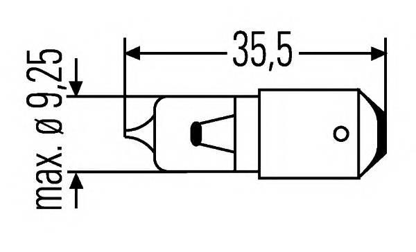 Лампа лампа (H6W) 12V 6W BAX9s галогенная для стояночных огней и поворотников