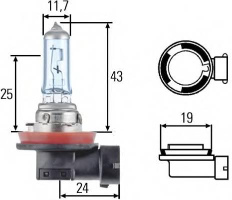 Лампа (H8) 35W 12V PGJ19-1 галогенная стандарт