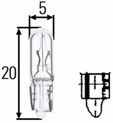 Лампа выключатель W1.2W 12V 12W W 2 x 46d