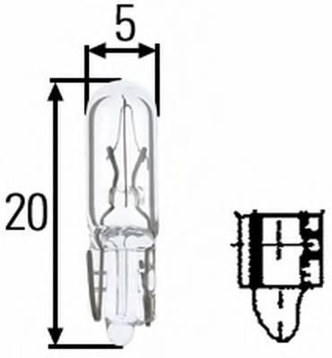 Лампа (1.2W) 12V W2X4.6d приборная панель (без цоколя)