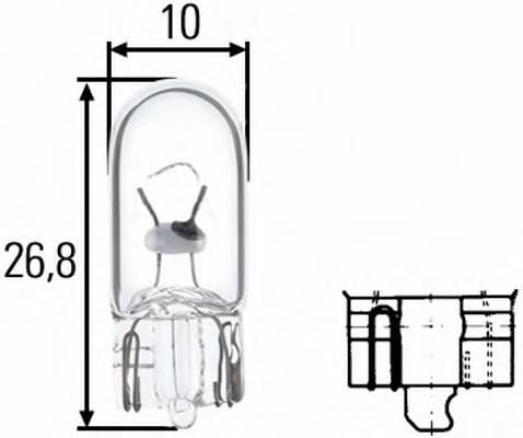 Лампочка 12V 5W без цоколя (габариты   подсветка заднего номера)