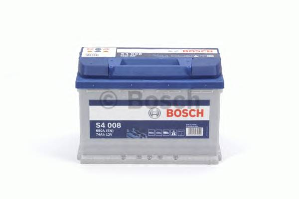 АКБ Bosch S4 Silver/12V 74A/h 680A 278x175x190  R(-+) T1 B13