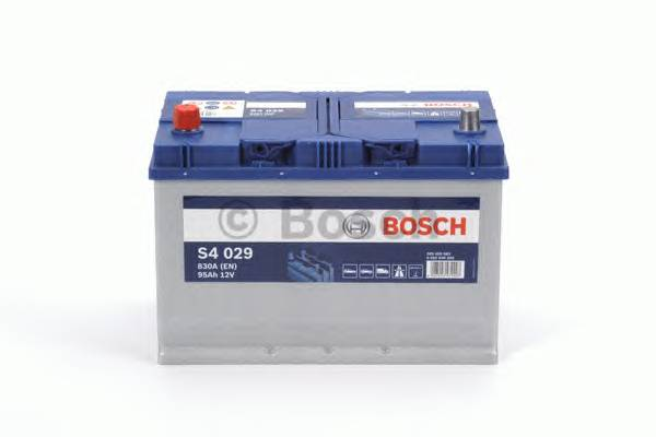 АКБ Bosch S4 Silver/12V ASIA 95A/h 830A 306x173x225 L(+слева) T1 B01