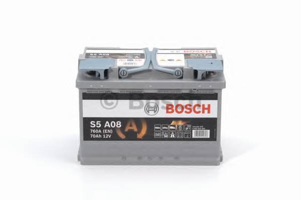 Аккумулятор BOSCH S5 AGM 12V 70AH 760A ETN 0(R ) B13 278x175x190mm 20.