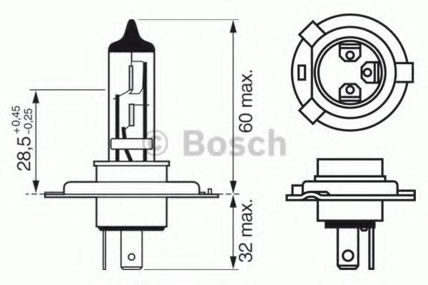 Лампа H4 XENON BLUE 12V 60 55W