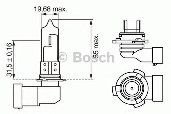 Лампа HB4 12V 51W (P20d)