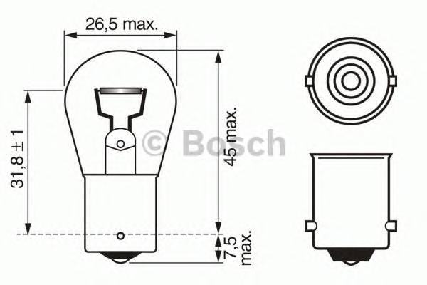 Лампа P21W 12V 21W Pure Light