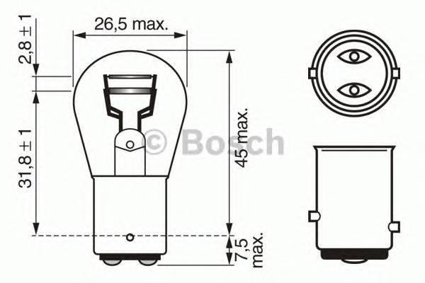Лампа P215W 12V 21 5W Pure Light