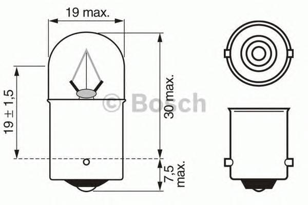 Лампа R10W 24V 10W BA15s