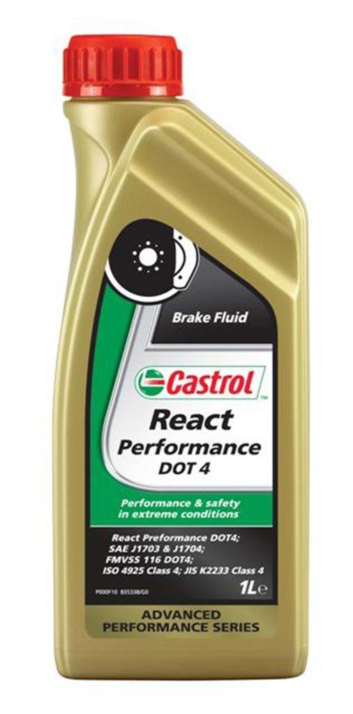 Жидкость тормозная CASTROL React Performance DOT-4 (1л)