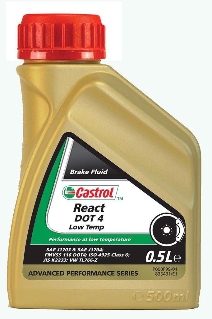 Жидкость тормозная CASTROL React DOT 4 Low Temp (500мл)