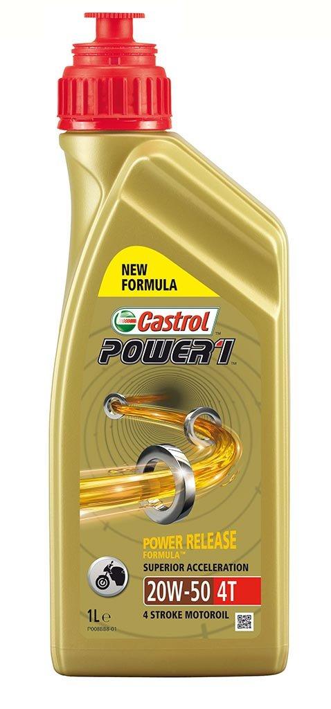 моторное масло для мототехники 15689A Castrol    POWER 1  4T 20W-50  (1л) (12шт)