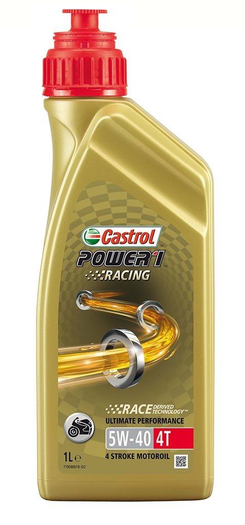 моторное масло для мототехники 157DF2 Castrol  POWER 1 RACING 4T  5W-40 (1л) (12