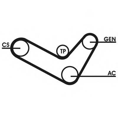 Комплект Ремень поликлиновой со шкивом