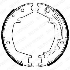 колодки барабанные ручника  Hyundai Santa Fe  Kia Sportage 00