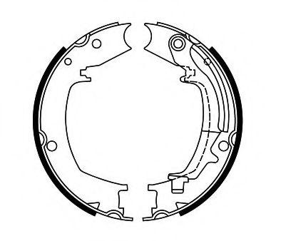 Колодки тормозные Барабанные HYUNDAI TUCSON 2.0 2004 - 2010  HYUNDAI ELANTRA 1.6