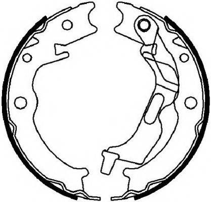 Колодки барабанные ручника Chevrolet Lacetti Dae 96496764