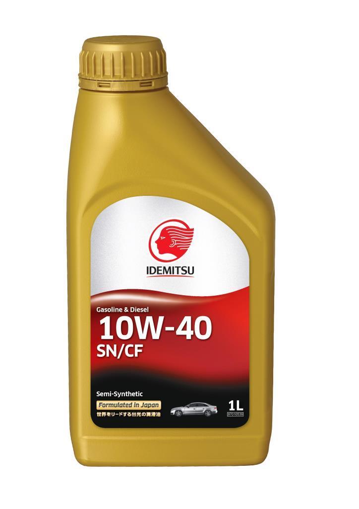Моторное масло IDEMITSU SEMI-SYNTHETIC SN/CF 10W40  (1л)