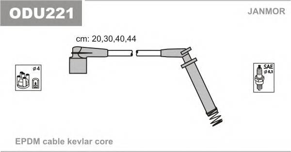 Комплект проводов зажигания OPEL ASTRA F 92-98 ASTRA F VAN