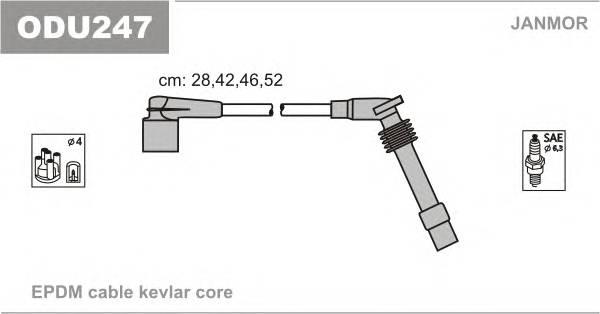 Комплект проводов зажигания OPEL ASTRA F CLASSIC хэтчбек 98
