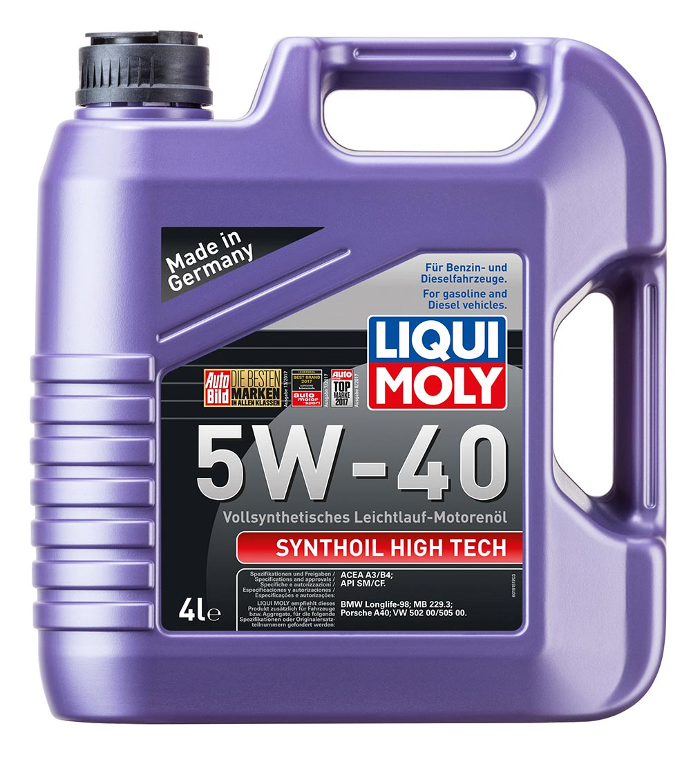 Масло моторное синт. Synthoil High Tech 5W-40 (4л) API SM/CF.A3/B4:MB229.3.BMW.V