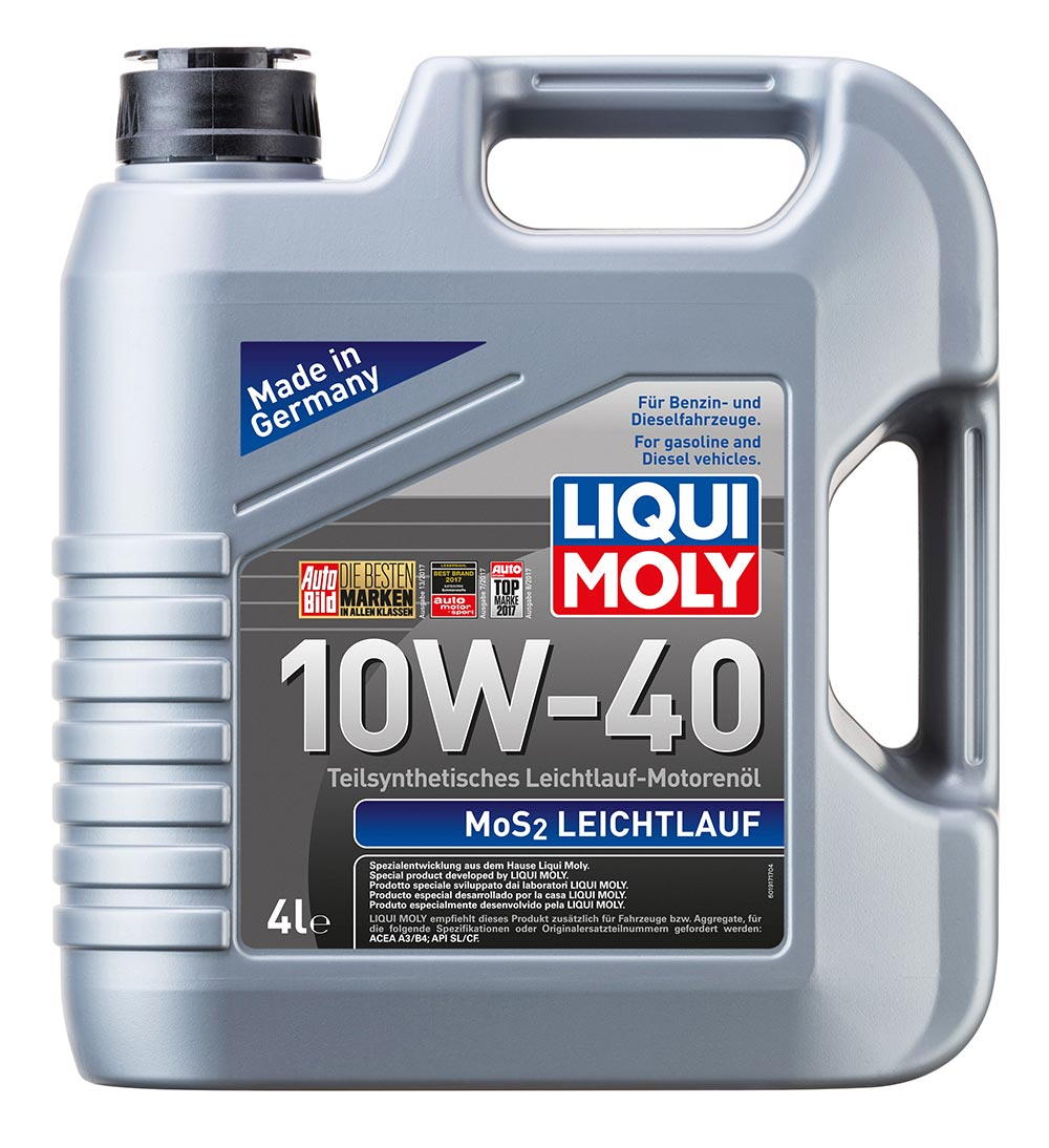Масло моторное синт.10W-40 MoS2 Leichtlauf 4л ACEA A3 ACEA B4 API SL