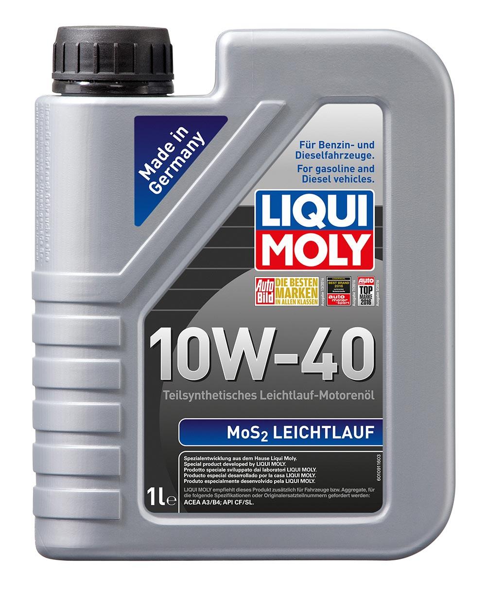 Масло моторное синт.10W-40 MoS2 Leichtlauf 1л ACEA A3 ACEA B4 API SL
