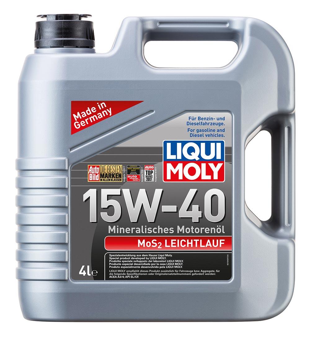 Масло моторное синт.15W-40 MoS2 Leichtlauf 4л ACEA A3 ACEA B4 API SL