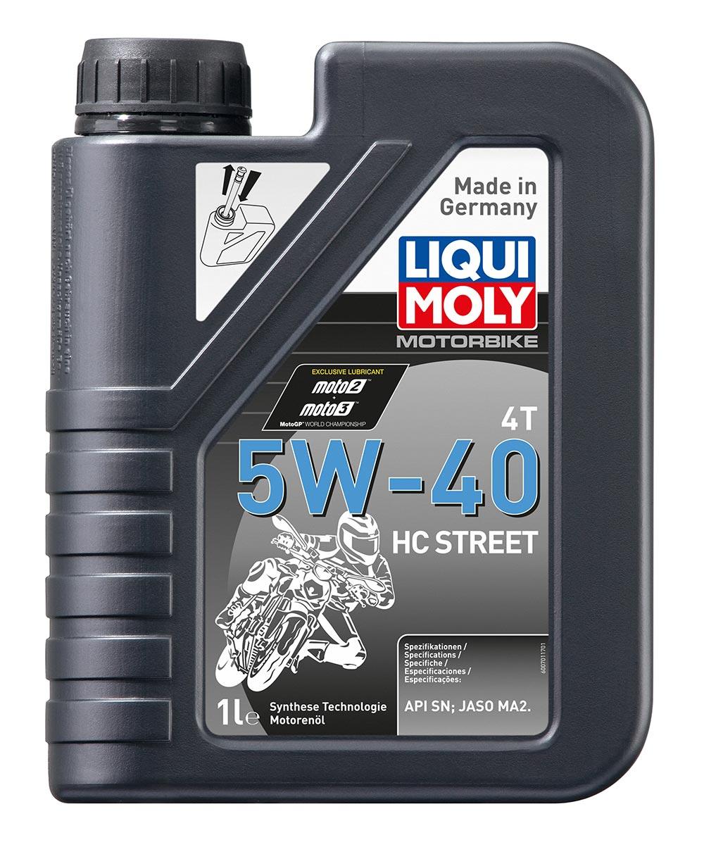Масло моторное синт.Motorbike 4T 5W-40 HC Street API SN JASO MA2 1л