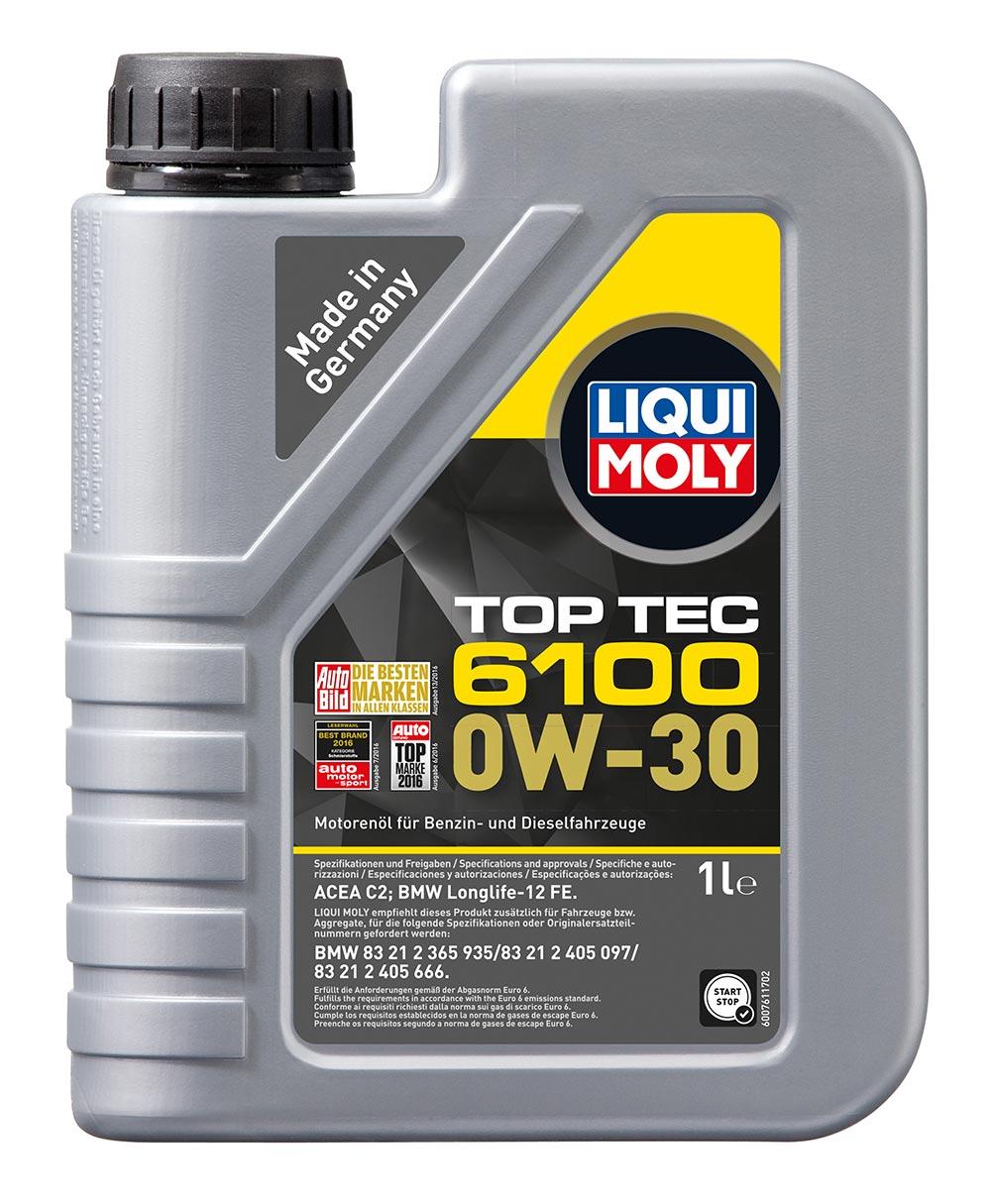 Масло моторное синт. 0W30 Top Tec 6100 1л ACEA C2 BMW Longlife-12