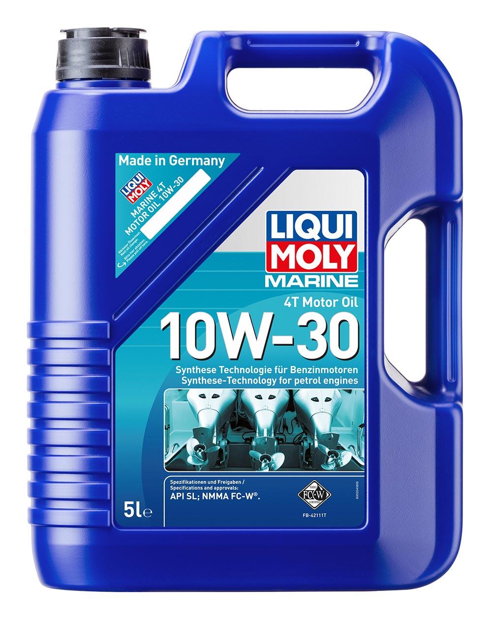 Масло моторное синт.Marine 4T Motor Oil 10W-30 API SLNMMA FC-W® 5л