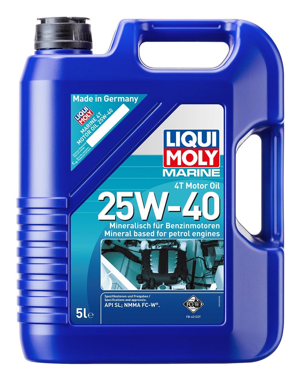 Масло моторное мин.Marine 4T Motor Oil 25W-40 API SL NMMA FC-W® 5л