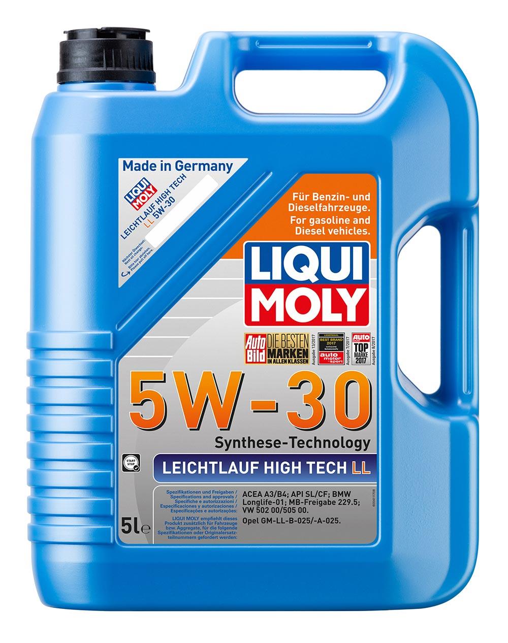 Масло моторное синт.5W30 Leichtlauf High Tech LL5л API SL/CF. A3/B4. BMW Longlif