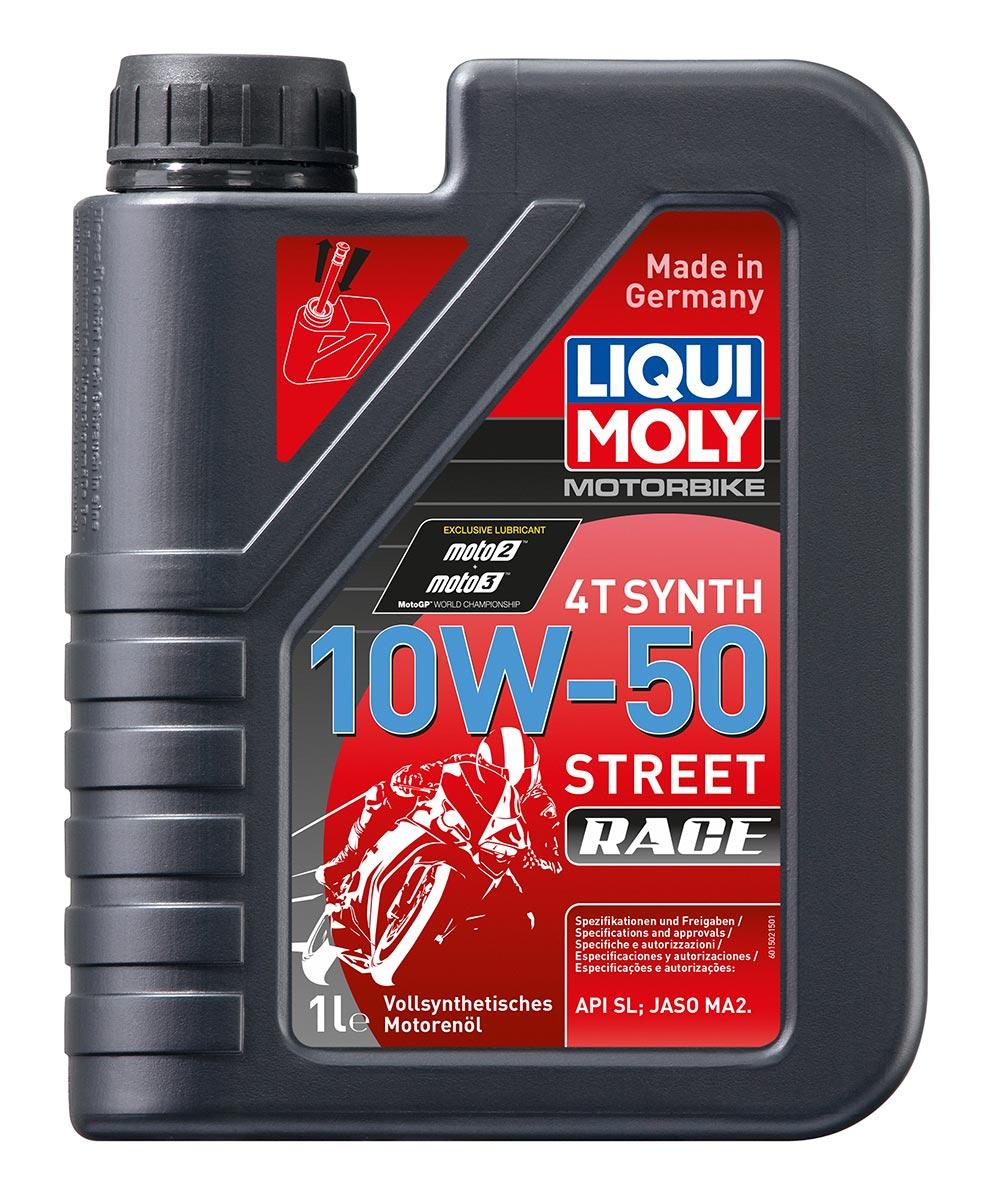 Масло моторное синт.Motorbike 4T Synth Street Race 10W-50 API SN JASO MA2 1л