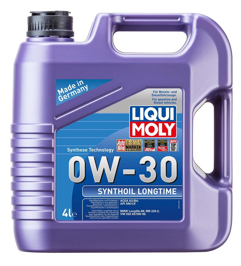 Масло моторное синт.0W30 Synthoil Longtime 4л API SM/CF.ACEA A3/B4.MB229.3.VW 50