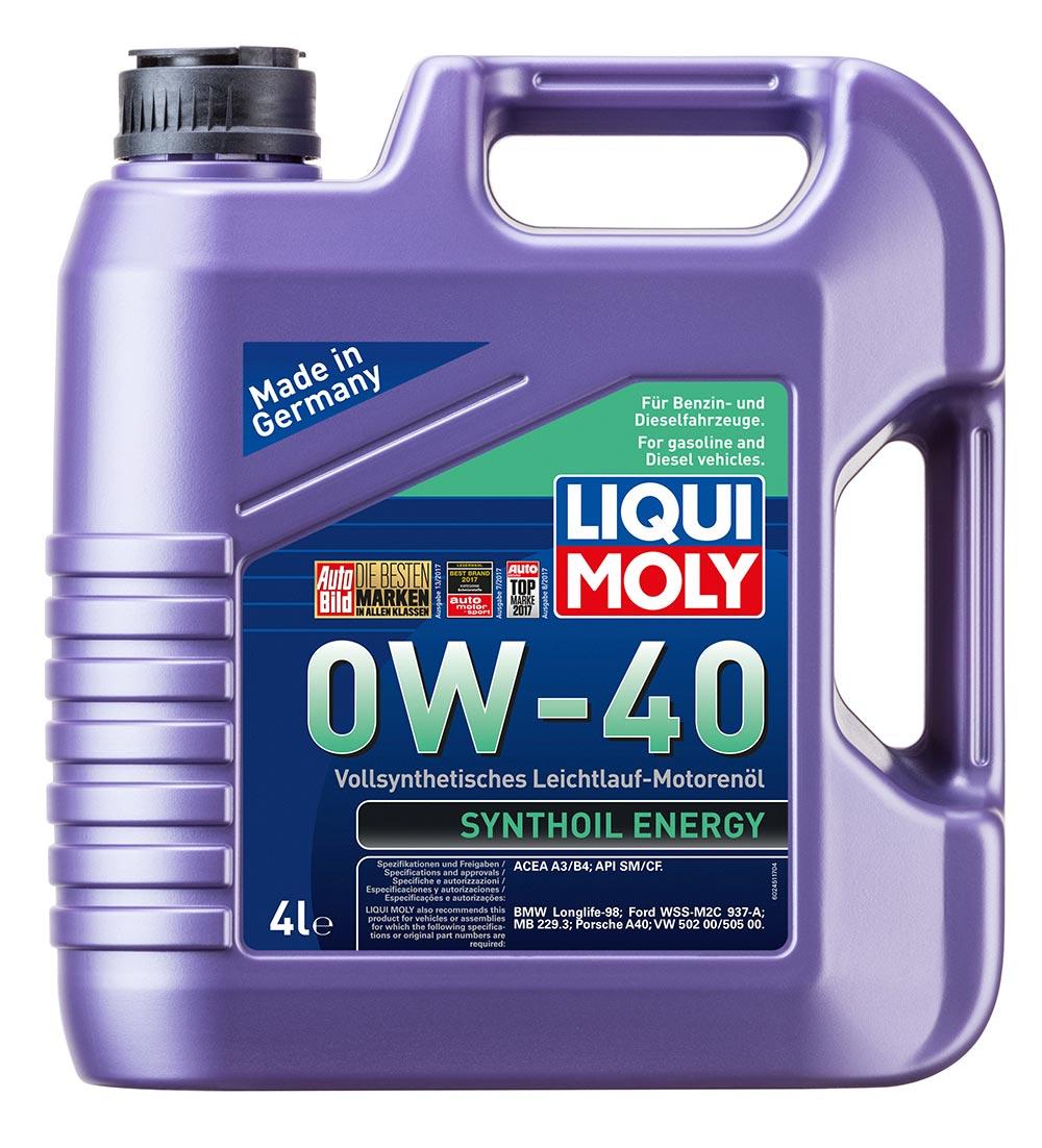 Масло моторное синт.0W40 Synthoil Energy 4л API SM/CF.ACEA A3/B4.VW 502.00/505.0