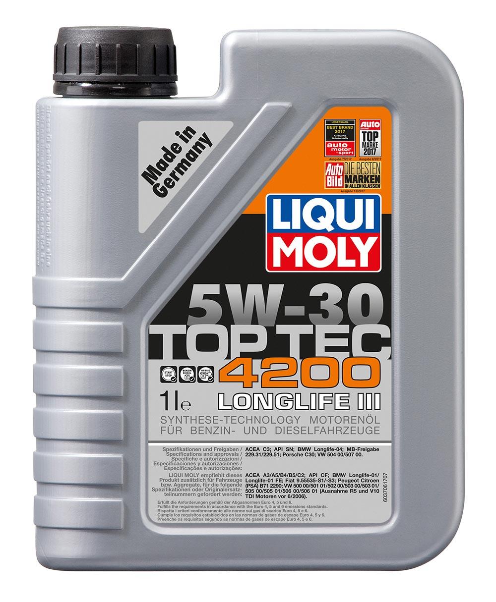 Масло моторное синт. Top Tec 4200 5W-30 (1л) пластик