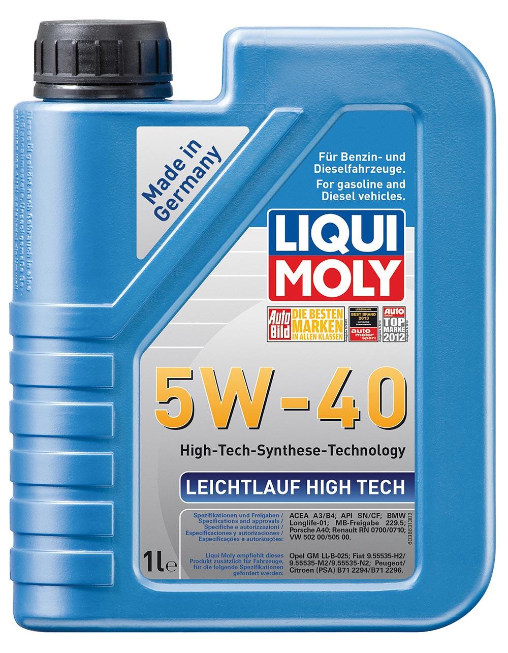 Масло моторное синт.5W40 Leichtlauf High Tech 1л API SN/CF.ACEA A3-04.B4-04.C3-0