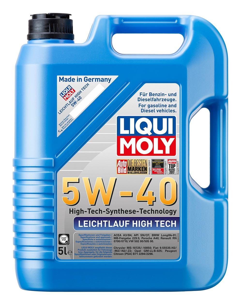 Масло моторное синт.5W40 Leichtlauf High Tech 5л API SN/CF.ACEA A3-04.B4-04.C3-0