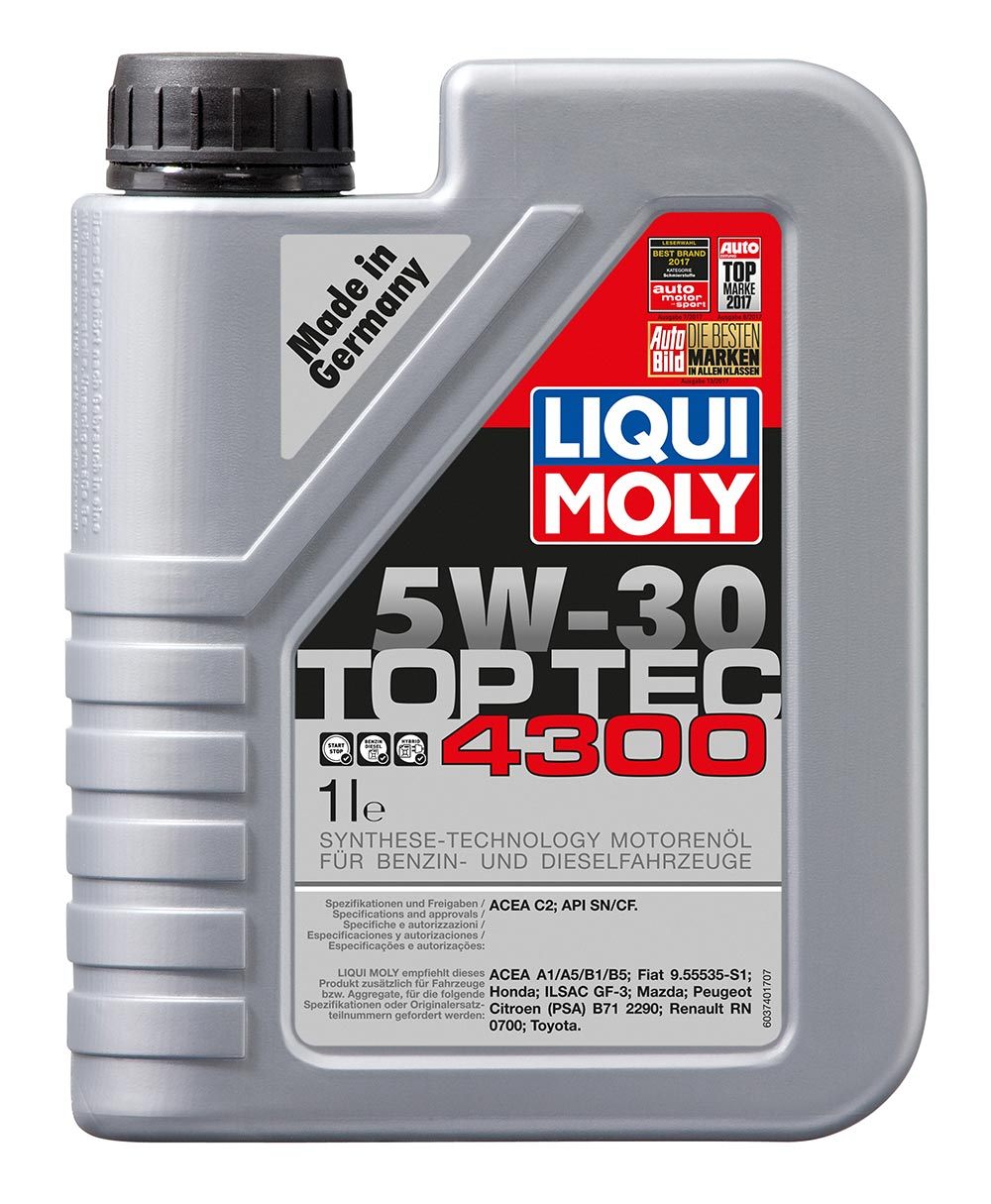 Масло моторное синт. Top Tec 4300 5W-30 (1л)