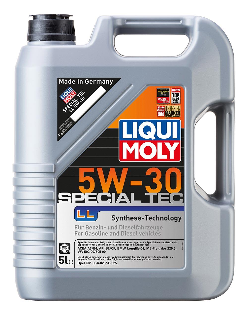 Масло моторное синт. 5W30 Special Tec LL 5л ACEA A3 ACEA B4 API SL BMW Longlife-