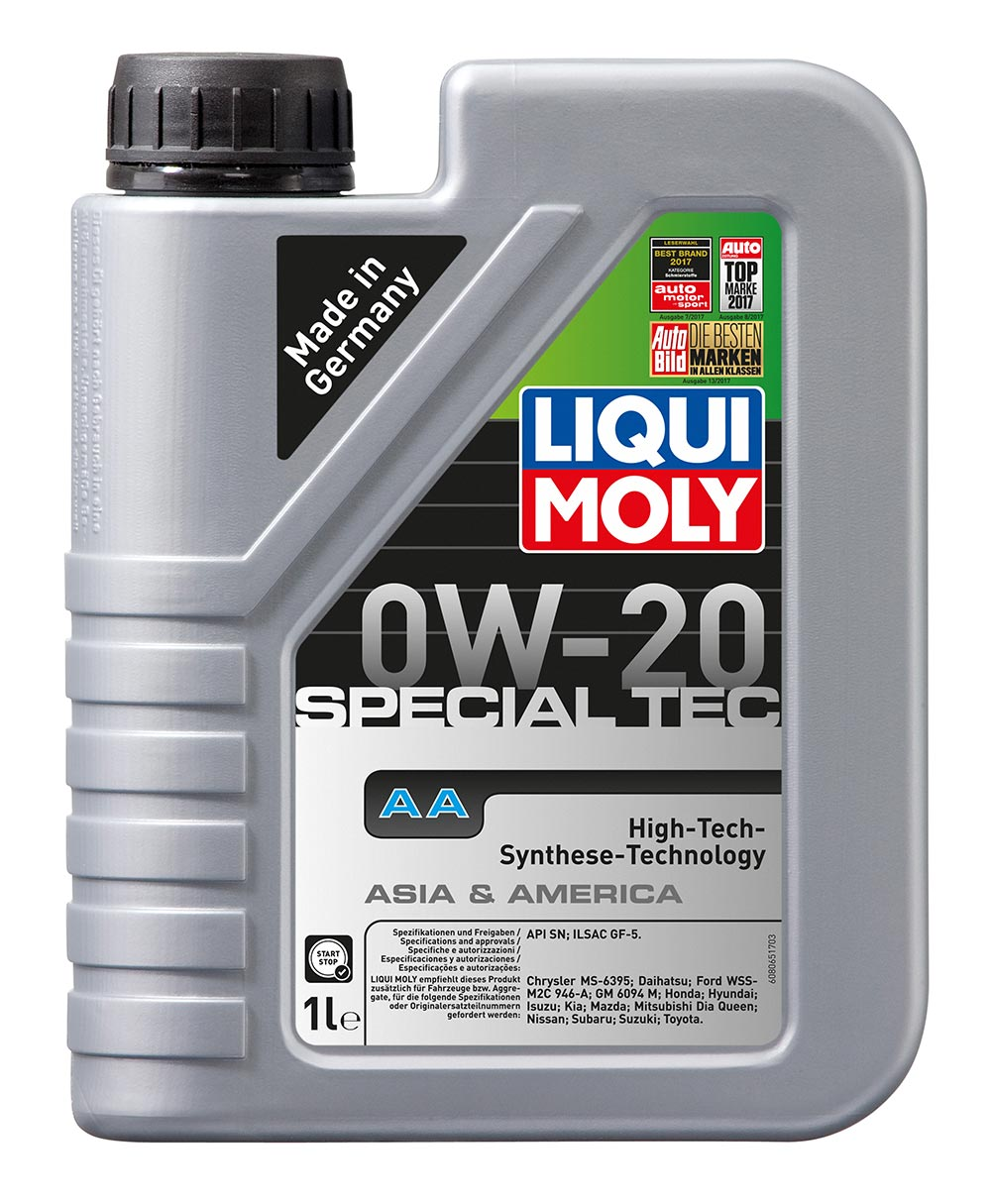Масло моторное синт. 0W20 Special Tec AA 1л API SN. ILSAC GF 5/Ford M2C 946-A. S